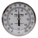 "0 - 150 Degree F, -10 - 60 Degree C 5"" Face 9"" Stem Teltru AA575R Series 42100929 Thermometer"