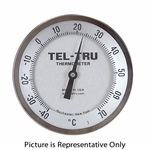 "-40 - 70 Degree C 5"" Face 9"" Stem Teltru AA575R Series 42100984 Thermometer"