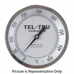 "0 - 450 Degree C 5"" Face 9"" Stem Teltru AA575R Series 42100990 Thermometer"
