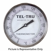 "0 - 200 Degree C 5"" Face 10"" Stem Teltru AA575R Series 42101078ARNAAAA Thermometer"