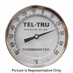 "-70 - 50 Degree C 5"" Face 18"" Stem Teltru AA575R Series 421018EZ Thermometer"