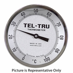 0 - 100&deg C 5&quot FACE 15&quot STEM TELTRU AA575R SERIES 42131576 THERMOMETER
