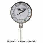 "0 - 300 Degree C 5"" Face 24"" Stem Teltru BC550R Series 40102480 Thermometer"