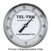 "21 - 125 Degree F, 0 - 50 Degree C 5"" Face 6"" Stem Teltru GT500R Series 38120606 Thermometer"