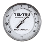 "0 - 180 Degree F 1-3/4"" Face 2-1/2"" Stem Teltru GT200 Series 21160255 Thermometer"