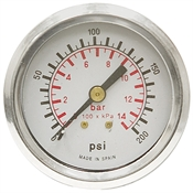 200 PSI / 14 Bar 2 PM Dry Gauge