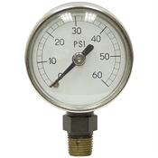 60 PSI 1.5 LM Dry Gauge 2 PSI Graduation