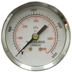 600 PSI 2 BM Dry Gauge Manobourdon