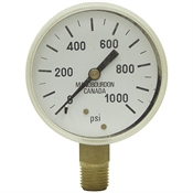 1000 PSI 2.5 LM Dry Gauge 50 PSI Graduation