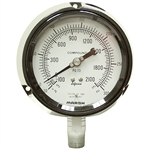 "-30 in HG To 300 PSI 4"" FP Dry Gauge"