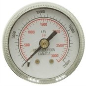 "3000 PSI 1.5"" BM Dry Gauge Manobourdon"