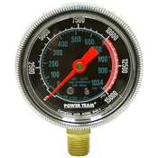"0-15000 PSI 2.50"" Dia Powerteam Dry Gauge"