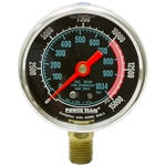 "0-15000 PSI 2.50"" Dia Powerteam LF Gauge"