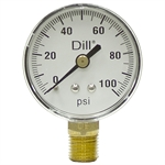 100 PSI 2 Face Dry Gauge