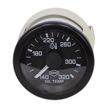 24 Volt DC Oil Temperature Gauge 140-320 Degrees with Sensor and Harness