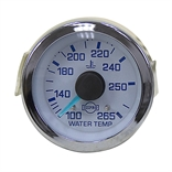 Water Temperature Gauge 100-265 48 Inch Capillary Tube