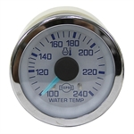 24 Volt DC Water Temperature Gauge 1240 Degrees with Sensor and Harness