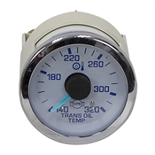 24 Volt DC Transmission Oil Temperature Gauge 140-320 Degrees with Sensor and Harness