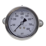 800 PSI Glycerin Filled 2.5 Stainless Steel Pressure Gauge