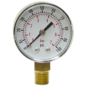"100 PSI 2"" LM Dry Gauge CDS-5P-007A"