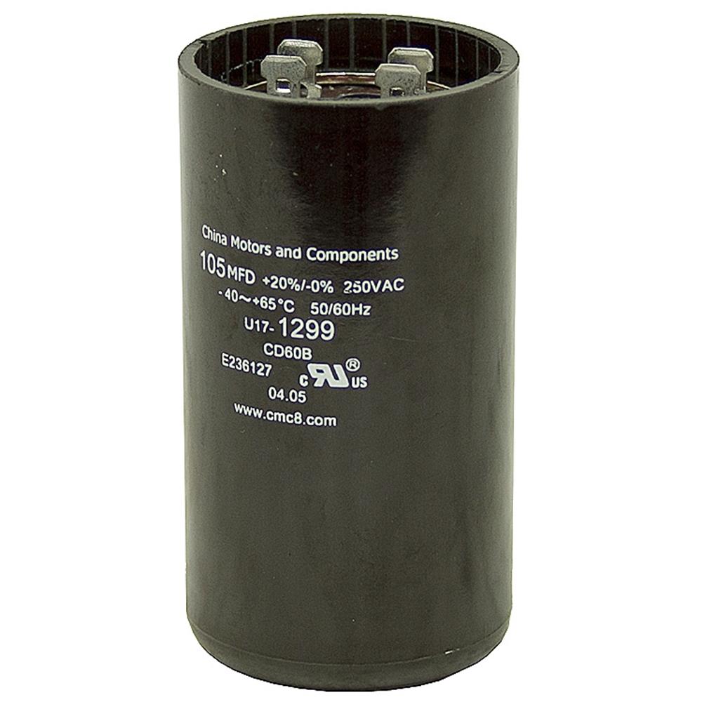 105 126 Mfd 250 Volt Ac Motor Start Capacitor Motor