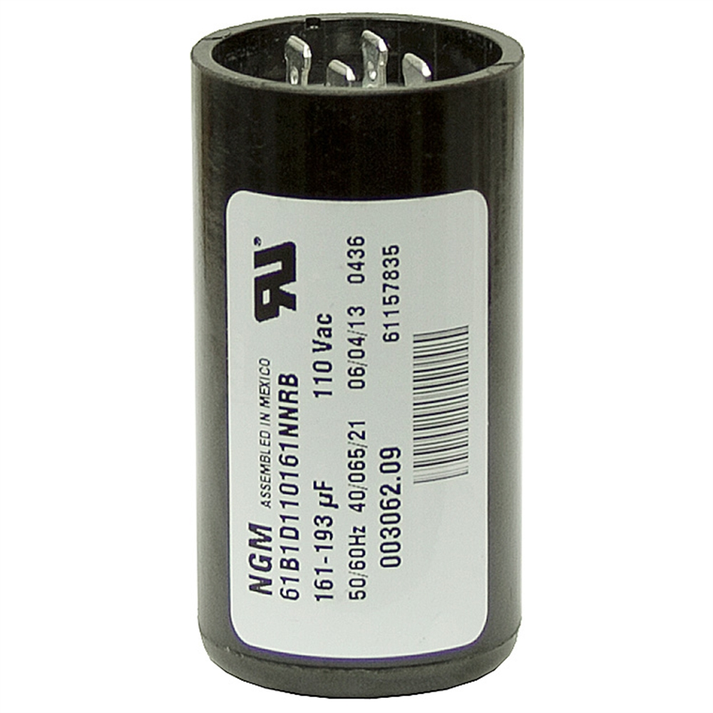 161 193 mfd 110 vac start capacitor ngm 61b1d110161nnrb for Electric motor start capacitor