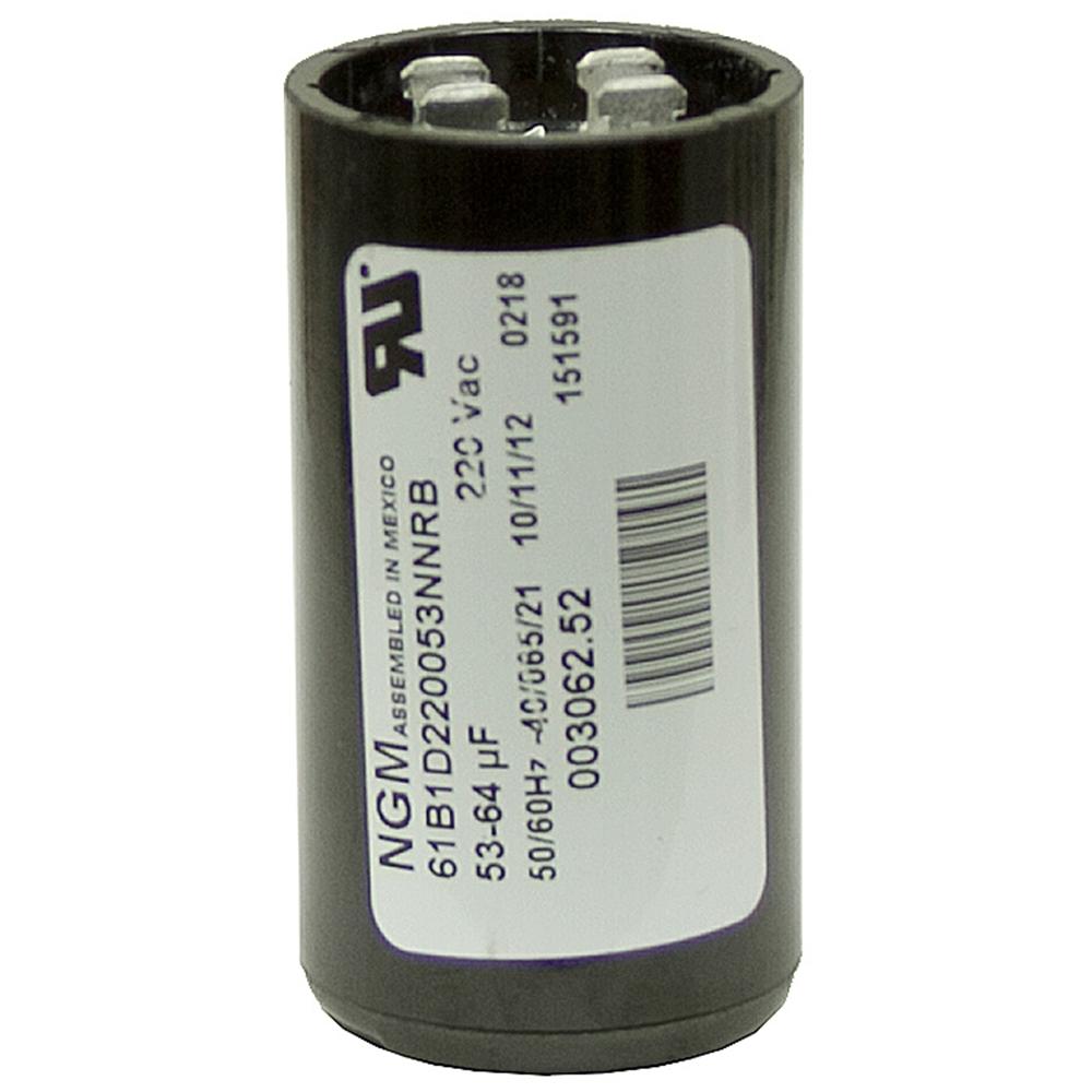 53 64 mfd 220 volt ac start capacitor ngm 61b2d220072nnrb for Ac motor start capacitor