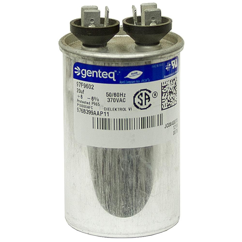 20 mfd 370 vac run capacitor genteq motor run capacitors for Capacitors for electric motors