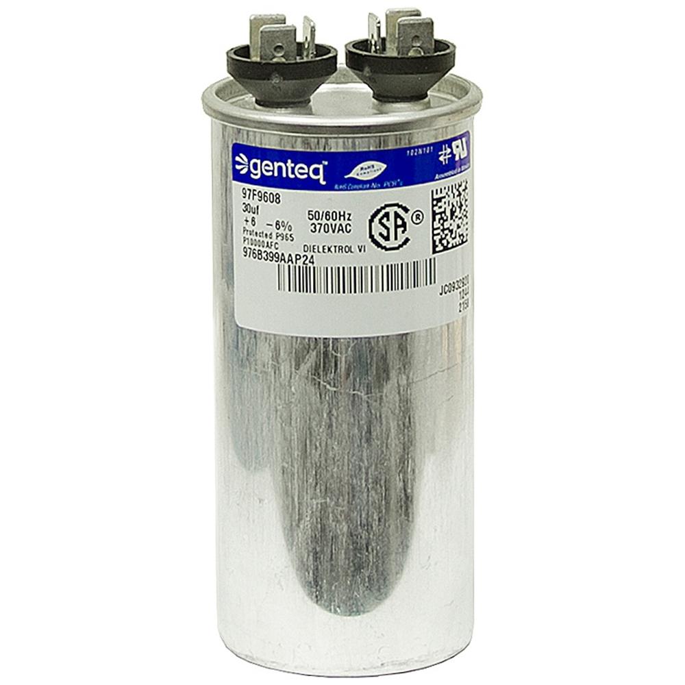30 mfd 370 vac run capacitor genteq motor run capacitors for Capacitors for electric motors