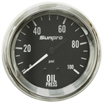 "100 PSI 2-5/8"" Oil Pressure Gauge Kit Mech"