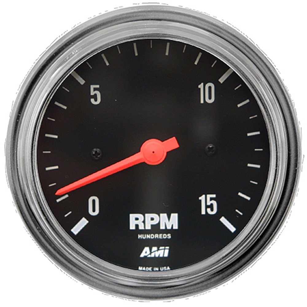 Tachometer 1500 rpm diesel chrome bezel electrical for Tachometer for electric motor