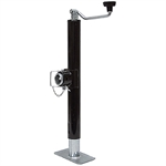 "2000 lb 10"" Top Wind Trailer Jack Round Tube"