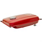 4.5 Gallon Red Fuel Tank w/Fuel Shutoff Valve