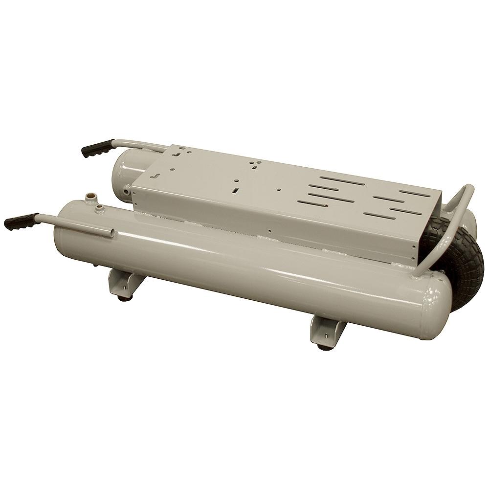 10 Gallon Twin Tank Compressor Tank Gray   Compressor