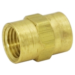 "Coupling 1/4""3300-04-04 Brass"