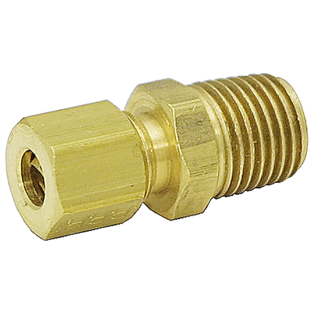 Coupling compression quot nptm tubing brass