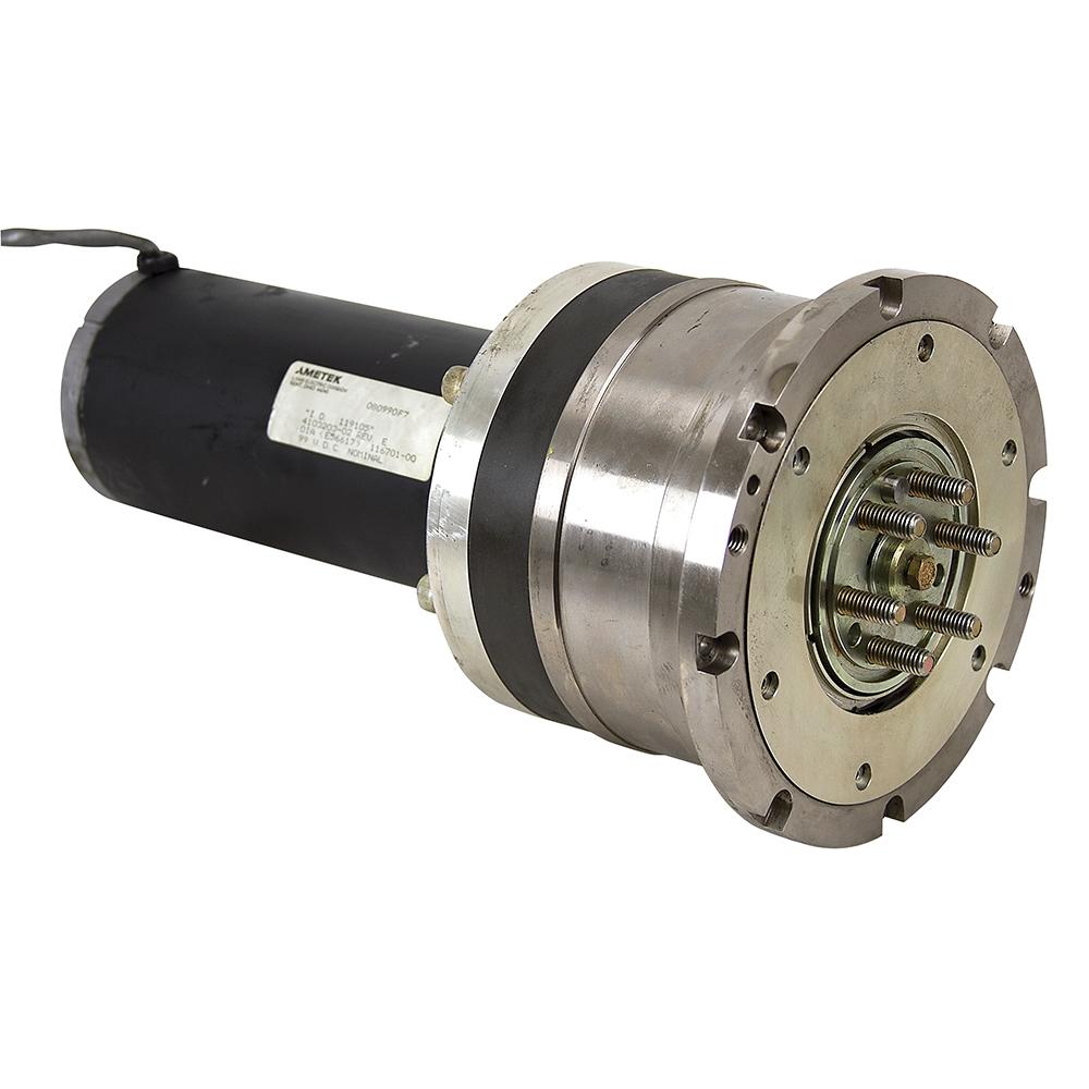25 Rpm 99 Vdc Inline Gearmotor Ametek 119105 W 1 2 Dia