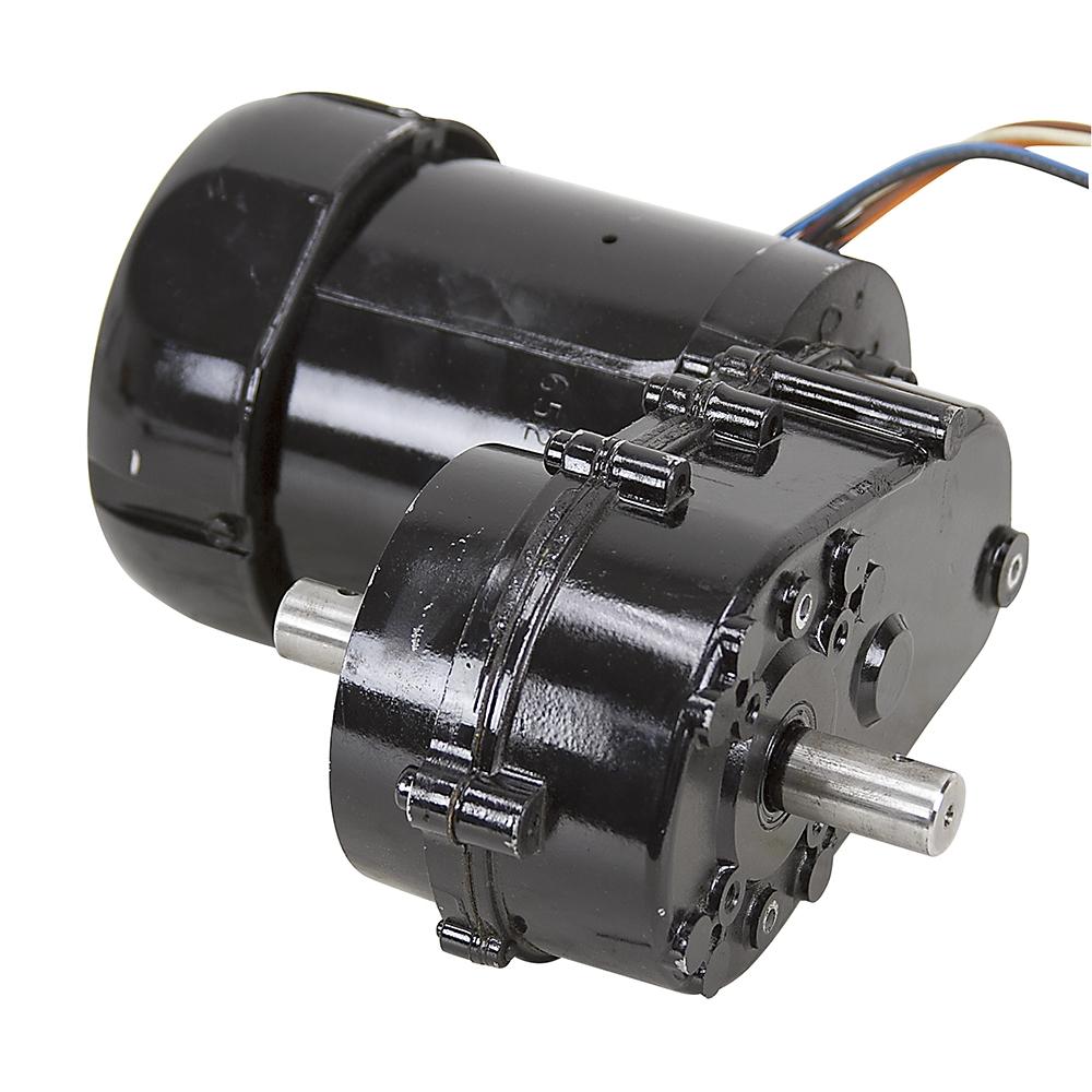 44 rpm 115 230 vac dual shaft gearmotor bison 016 500 9924 for Gear motor 500 rpm