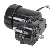 44 RPM 115/230 Volt AC Dual-Shaft Gearmotor Bison 016-500-9924 151-503-4129