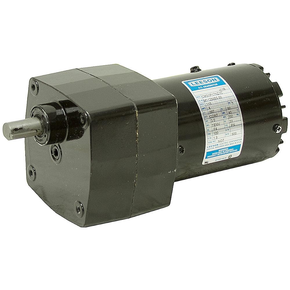 1 9 Rpm 115 Volt Ac 100 In Lb Leeson Gearmotor Ac