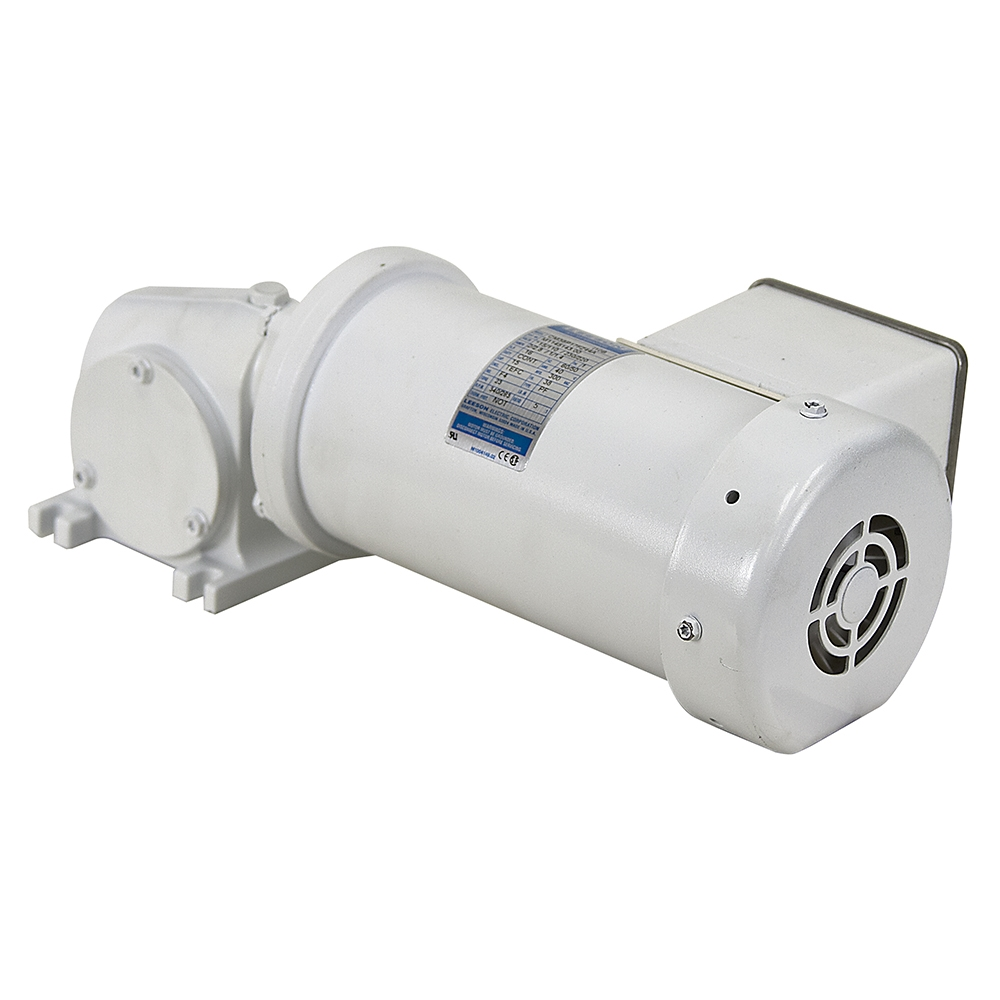 340 rpm 115 230 vac right angle washdown gearmotor leeson for Right angle electric motor