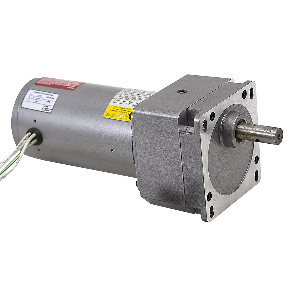 28 rpm 230 vac 1 12 hp baldor inline gearmotor for Baldor gear motor catalog