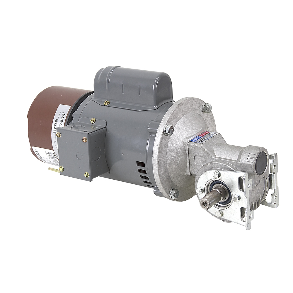 58 rpm 115 vac leeson gearmotor w brake ac