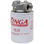 "3/4"" NPT 25 GPM Zinga Return Line Filter 25 PSI Bypass"