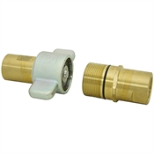 "1-1/4"" NPT Brass Wing Nut Quick Coupler"