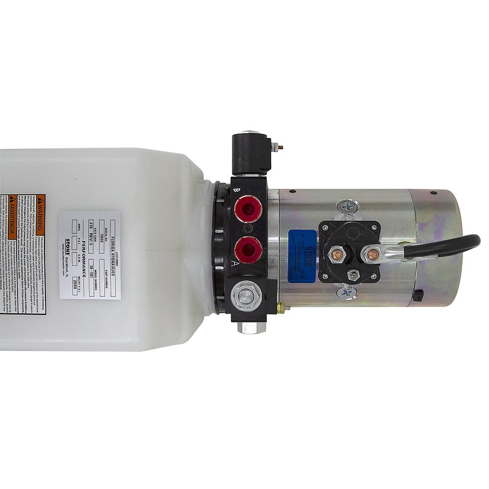 12 Volt DC 1 4 GPM 2500 PSI SPX Double Acting Power Unit