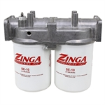 120 GPM Zinga Return Line Filter with Dual 10 Micron Elements