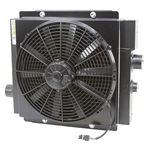 80 GPM AKG DCS20-12-BP65 Oil Cooler w/12 Volt DC Fan and Internal Bypass