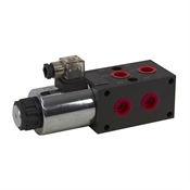 24 GPM 12 Volt DC SAE 10 Double Selector Valve