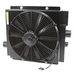 80 GPM AKG DCS20-12-BP65-6892 Oil Cooler w/12 Volt DC Fan and Internal Bypass